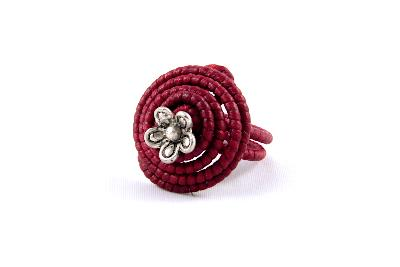 Bague spirale rouge