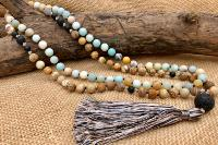 Collier mala en pierres naturelles