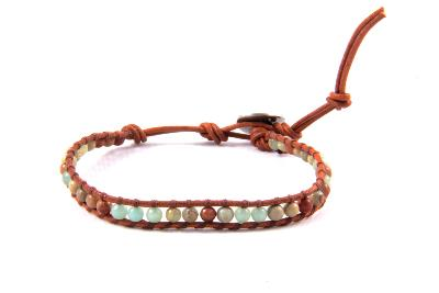 Bracelet wrap jaspe antique 1 tour