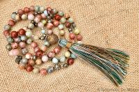 Collier mala jaspes multicolores