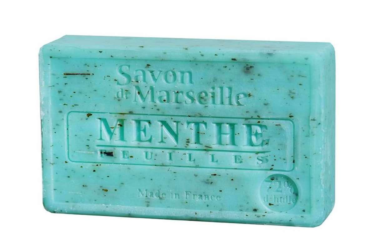 Drap De Bain Savon De Marseille savon de marseille feuilles de menthe