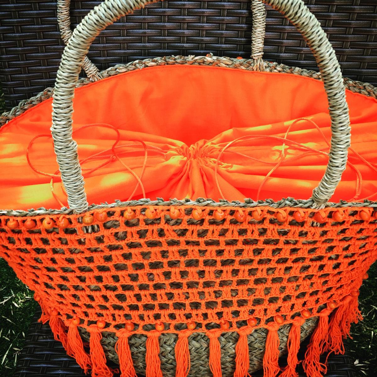 panier de plage ubud orange tendances du monde. Black Bedroom Furniture Sets. Home Design Ideas