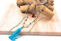 Collier multi tours de pierres naturelles