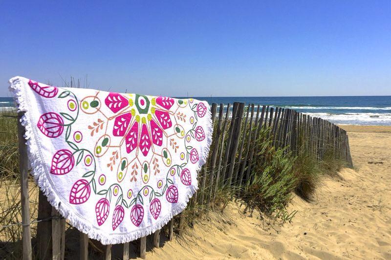 Nouvelle serviette de plage ronde - Tendances Du Monde