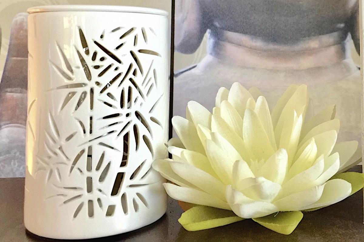 lampe diffuseur de parfum calorya bambou. Black Bedroom Furniture Sets. Home Design Ideas
