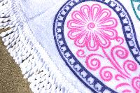 Serviette de plage ronde arabesque rose